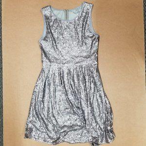 Issi  Sequin Silver Dress Women's Size Medium